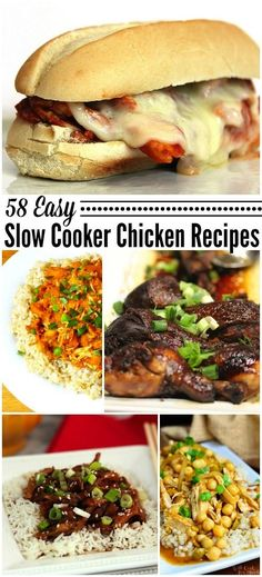 58 Slow Cooker Chicken Recipes by Call Me Pmc PLUS over 160 Slow Cooker and Crock Pot Recipes! #slowcooker #crockpot #chicken #recipes
