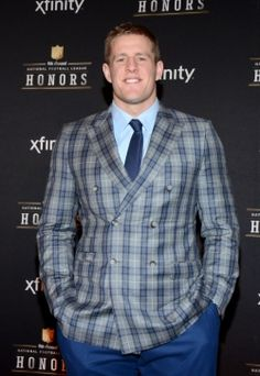 J.J. Watt, of the Houston Texans, winner of the AP defensive player of the year award, poses in the press room at the 4th annual NFL Honors at the Phoenix Convention Center Symphony Hall on Saturday, Jan. 1, 2015. (Photo by Tonya Wise/Invision for NFL/AP Images)