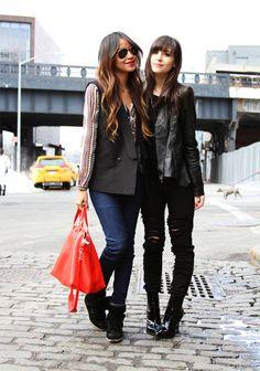 Blouse: Zara | Vest:BCBG| Jeans: Car-Mar | Sneakers:Isabel Marant| Bag:Marc Jacobs| Shades:Ray Ban| Necklaces:Jennifer ZeunerandAriel Gordon