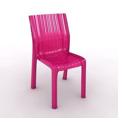Kartell Frilly chair, fuchsia