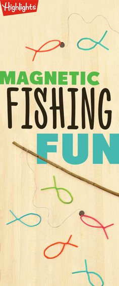 "Ahoy! This fun fishing activity requires little setup and can easily be adapted to include several children. It also builds kids' hand-eye coordination as they use the pole to pick up fish. So whether you're on the water this summer or not, spend some time fishing at your ""local"" watering hole."