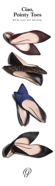 Lush pony hair against supple nappa, a modern cutout silhouette—this little point-toe flat piles impact on impact. Free shipping and returns. Shop now! Crazy Shoes, New Shoes, Me Too Shoes, Shoe Boots, Shoes Sandals, Heels, All About Shoes, Pointed Toe Flats, Shoe Closet