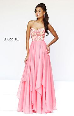 2015 Coral Sweetheart-Neck Layered Sherri Hill 1924 Long Bodice Prom Dresses [Sherri Hill 1924 Coral] - $177.00 : 2015 homecoming dresses & cocktail dresses fashion choices at homecomingfashion.com!