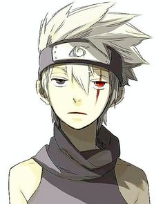 """kakshu hatake, his sharingan eye was a gift from obite before obito """"died"""""""