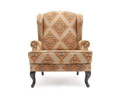 Elizabeth Douglas Кресло Duart - итальянский текстиль - В117 см, 92х86х117 см