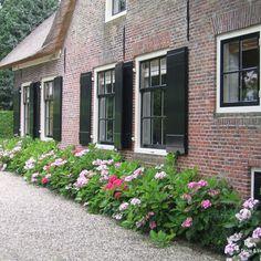 Dutch Gardens, Farm Gardens, Outdoor Gardens, Window Shutters Exterior, House Shutters, Garden Architecture, Farmhouse Interior, Farm Life, Garden Inspiration