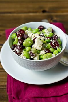 Edamame, Cranberry, & Feta Salad - Love and Zest