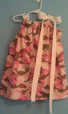 John Deere Camo Pillowcase Dress