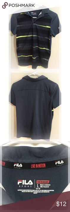 Boy's Fila Sports Polo (size 14-16) Excellent condition! Fits more like 10-12 Fila Shirts & Tops Polos