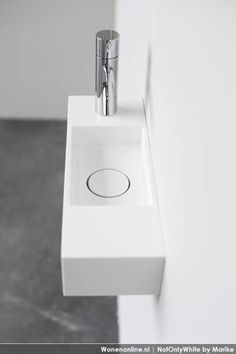 New super compact hand rinse basins by NotOnlyWhite // Dimster Architecture Compact Bathroom, Bathroom Spa, Bathroom Toilets, Modern Bathroom, Small Bathroom, Clogged Toilet, Toilet Sink, Toilet Room, Lave Main Design