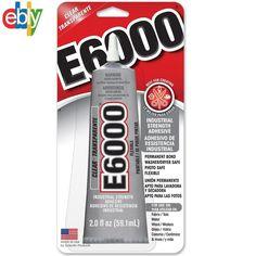 E-6000 Industrial Strenght Glue Adhesive 2.0 Oz. Permanent Bond Multi Purpose #E6000
