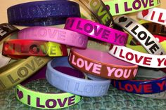 Convey your valentine message in a best way with our awesome I love you wristbands to your loved ones.