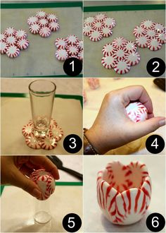 How to make peppermint shot glasses