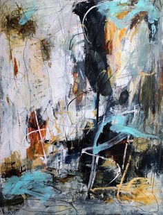 Abstract 2020 - Abstract acrylic,collage, art,kunst, mixed media, abstract painting,online workshops, courses,watercolor