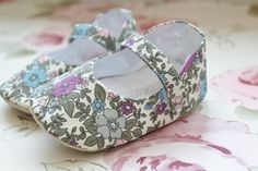 A stunning little pair of shoes made from a Liberty inspired floral soft cotton. These really would make a special gift for a little girl, the soft