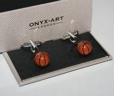 Novelty #cufflinks - basketball #design * new * gift #boxed,  View more on the LINK: 	http://www.zeppy.io/product/gb/2/161373285008/