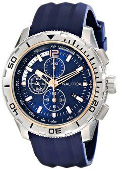 Nautica Men's NAD19505G NST 101 Analog Display Japanese Quartz Blue Watch