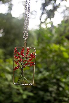 my new tree necklace i made! you like? im really starting to get into more jewelry making with my free time :)