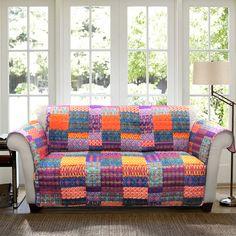 Lush Decor Misha Sofa Furniture Protector Slipcover