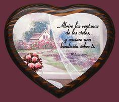 Cuadro de Madera Corazones Abrire las ventanas