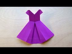 Origami dress: How to make origami dresses - Origami wedding dress - YouTube