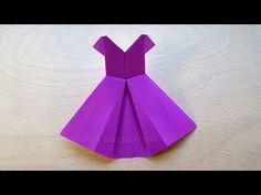 Origami Kleid falten mit Papier - Basteln mit Kindern - DIY - Basteln Ideen - Kleidung - YouTube