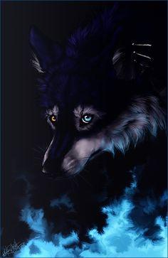 .: Blue Fire :. by WhiteSpiritWolf on deviantART