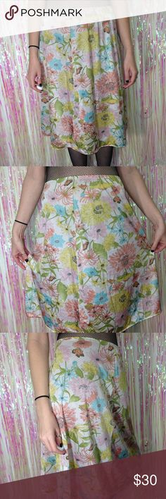 """Vintage Vanity Fair Pastel Floral Print Slip Vintage Vanity Fair Pastel Floral Butterfly Print 70's Slip. Made in 🇺🇸 Elastic waist. Size Small. Amazing vintage condition. Soo dreamy 😍  Waist-24"""" Length-24""""  *I'm not responsible for the fit of an item*  🚫 I don't discuss prices through comments, please use the offer button!  ⚡️ Same-day or next-day shipping 📬 All packages handled with care 📦 Bundle items & get a discount 💖 Please, read shop policies! :) Vintage Intimates & Sleepwear…"""