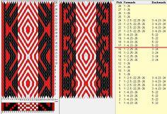 26 tarjetas, 3 colores, repite cada 16 movimientos // sed_980 diseñado en GTT༺❁