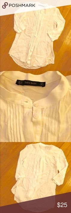 Sale! Zara tunic Like new! No stains, tears or pulling. This is white, not cream. Would go great with jeans and boots! Make an offer! Zara Tops Tunics