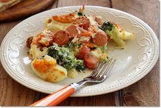 Gizi-receptjei. Várok mindenkit.: Brokkoli tojással és virslivel csőben sütve. Potato Salad, Potatoes, Pizza, Meat, Chicken, Ethnic Recipes, Breakfast, Blog, Lifestyle