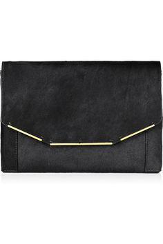 Wristlet clutch via Lanvin