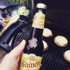 @shinerbeer Ruby Redbid with my #Chillsner to keep it cold while I flip burgers