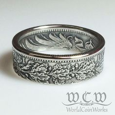 Silver German Coin Ring 1874-1916 Germany 1 by WorldCoinWorks