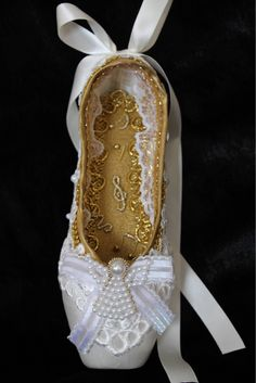A personal favorite from my Etsy shop https://www.etsy.com/listing/572691771/decorated-pointe-shoenutcracke-angel