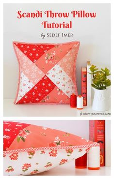 Scandi Pillow Tutorial by guest poster Sedef Imer - Diary of a Quilter - a quilt blog