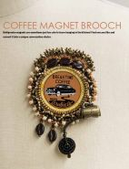Break the Rules Bead Embroidery: Coffee Magnet Brooch