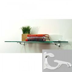 """10"""" Floating Monarch Shelf Bracket Finish: White, Size: 33"""" W x 10"""" D by Spancraft Glass. $71.30. Color: White. Shelves include 2 shelf brackets with hardware.. Size: 0.375""""H x 33""""W x 10""""D. Recommended weight capacity up to 80 pounds.. Easy installation.. M10X33-White Bracket Finish: White, Size: 33"""" W x 10"""" D Features: -Shelf.-3/8'' thick clear tempered glass.-Recommended weight capacity up to 80 pounds.-Expertly packaged to ensure safe delivery.-Easy installation.-In..."""
