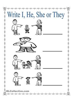 Personal Pronouns I, She, He and They