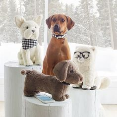 Adorable, fluffy pups that are actually bluetooth speakers. | 38 Of The Cutest Animal-Themed Products You've Ever Seen