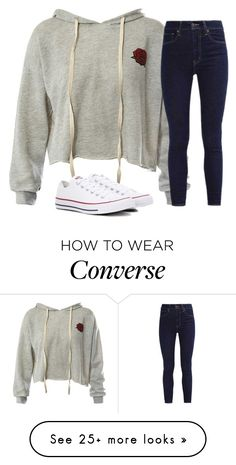 """""""Untitled #2786"""" by laurenatria11 on Polyvore featuring Sans Souci, Levi's and Converse"""