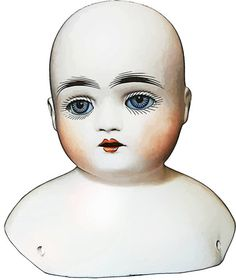 creepy old porcelain doll head clipart png clip art Digital Image Download toy clip art dolly parts graphics printables