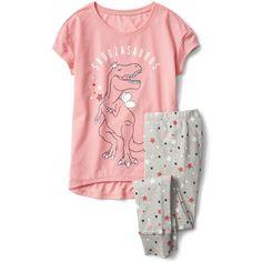 Graphic PJ set ($23) ❤ liked on Polyvore featuring intimates, sleepwear and pajamas