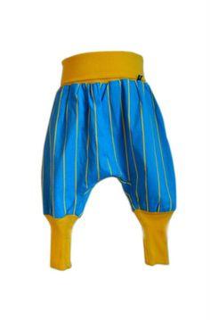 hlačke Peter Klepec, modre, rumene črte