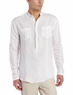 Cubavera Men's Long Sleeve Two Pocket Shirt with Taping Detail, Bright White, Small Cubavera,http://www.amazon.com/dp/B00G31N0CU/ref=cm_sw_r_pi_dp_OAjktb0M53D7XMN8.     $36-$39