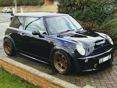 Loving the Black n Gold combo and man alive this MINI Cooper S has a wicked stance!