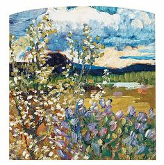 HELMER OSSLUND, Spring landscape.