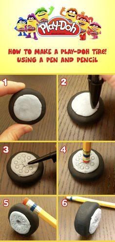 Add fine details to your Play-Doh creations using a pen or pencil.