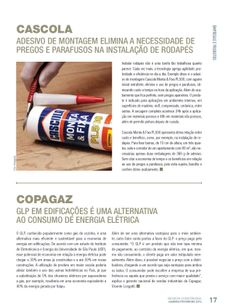 Título: GLP em edificações é uma alternativa ao consumo de energia elétrica; Veículo: revista Construsul; Data: fevereiro de 2014; Cliente: Copagaz.