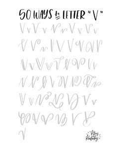 hand lettering alphabet letter v Hand Lettering Alphabet, Doodle Lettering, Creative Lettering, Lettering Styles, Brush Lettering, Abc Alphabet, Cursive, Calligraphy Handwriting, Calligraphy Letters